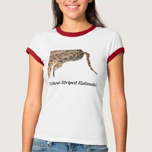 Yellow-Striped Ratsnake Ladies Ringer T-Shirt