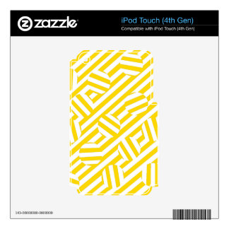 Yellow stripes and circles pattern decals for iPod touch 4G
