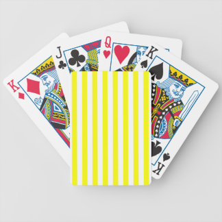 Yellow Stripes Bicycle Playing Cards