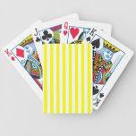 Yellow Stripes Bicycle Poker Deck