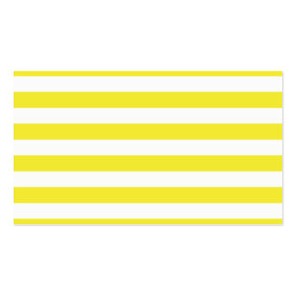 Yellow Stripes Double-Sided Standard Business Cards (Pack Of 100)