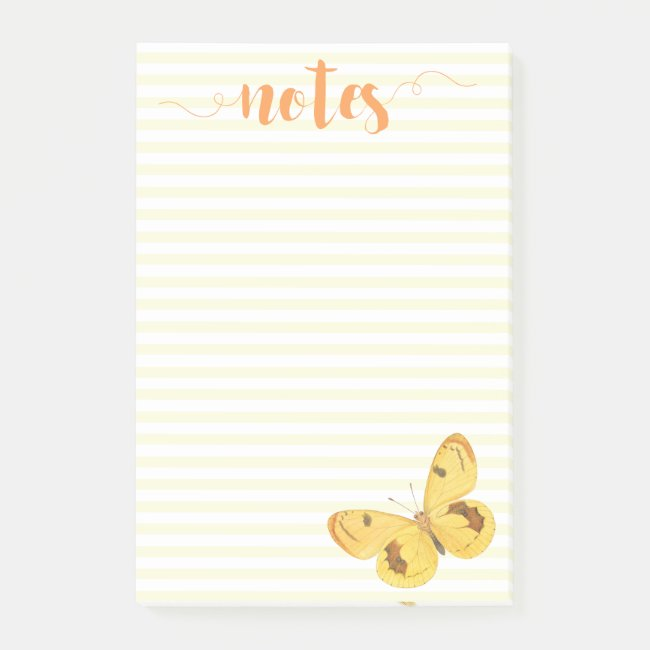 Yellow Stripes & Butterfly - Notes