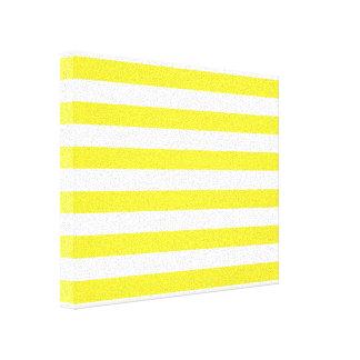 Yellow Stripes Canvas Print