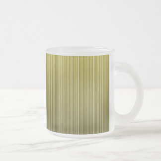 Yellow Stripes Frosted Glass Coffee Mug