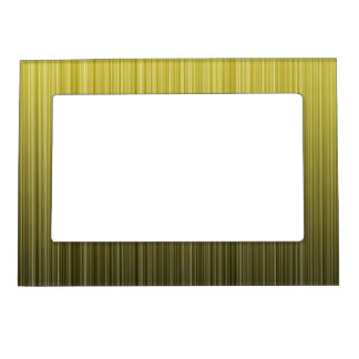 Yellow Stripes Magnetic Picture Frame