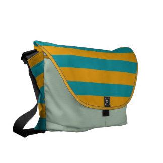 Yellow Stripes On ANY Color messenger bag