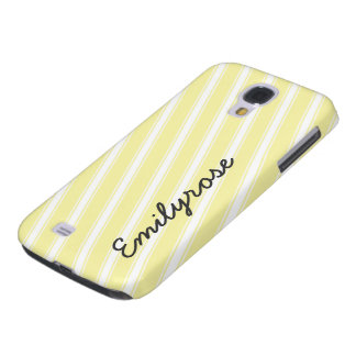 Yellow Stripes Pattern Cell Phone Case HTC Vivid Samsung Galaxy S4 Covers