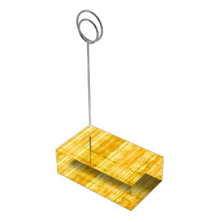 Yellow Stripes Pattern Table Card Holder