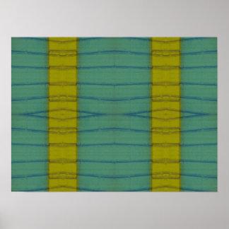 yellow stripes poster