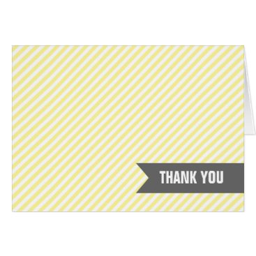 heartlocked Yellow Stripes Thank You Notes