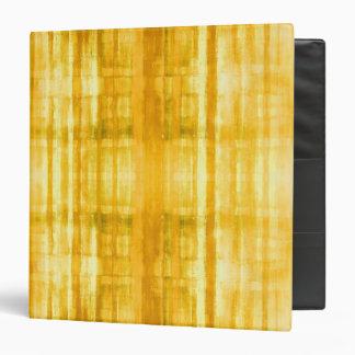 Yellow Stripes Vinyl Binder