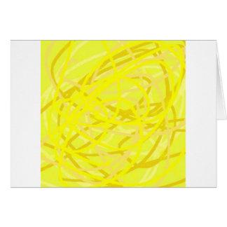 yellow stuff greeting card