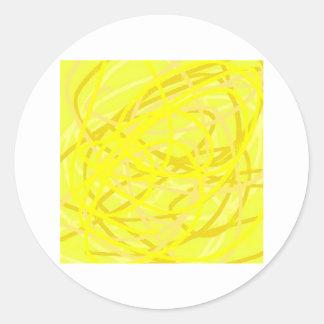 yellow stuff classic round sticker