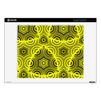 "Yellow Stylish pattern 14"" Laptop Skins"