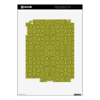 Yellow Stylish Pattern iPad 2 Skin