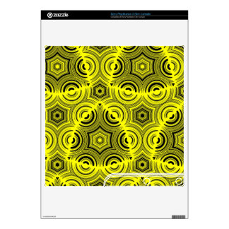 Yellow Stylish pattern Skins For PS3 Slim