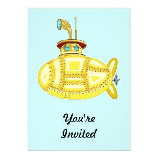 Yellow Submarine Invitation