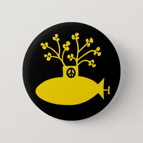 Yellow Submarine Sixties Peace Button