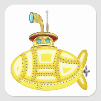 Yellow Submarine Square Sticker