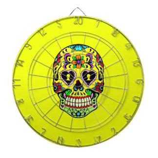 Yellow Sugar Skull (Day of the Dead) Dartboard