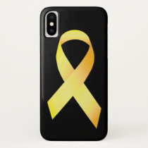 Yellow Suicide Prevention Ribbon iPhone X Case