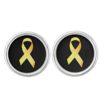 Yellow Suicide Prevention Ribbon Cufflinks