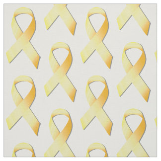 Yellow Suicide Prevention Ribbon Fabric