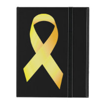 Yellow Suicide Prevention Ribbon iPad Case