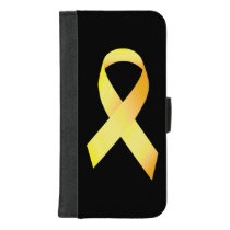 Yellow Suicide Prevention Ribbon iPhone 8/7 Plus Wallet Case