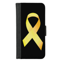 Yellow Suicide Prevention Ribbon iPhone 8/7 Wallet Case