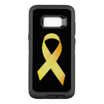 Yellow Suicide Prevention Ribbon OtterBox Defender Samsung Galaxy S8  Case