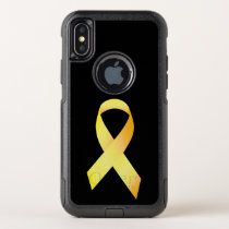 Yellow Suicide Prevention Ribbon OtterBox Commuter iPhone X Case