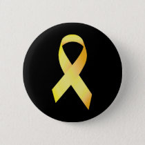 Yellow Suicide Prevention Ribbon Pinback Button
