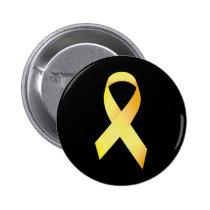 Yellow Suicide Prevention Ribbon Pinback Button