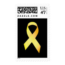 Yellow Suicide Prevention Ribbon Postage