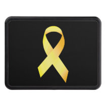 Yellow Suicide Prevention Ribbon Trailer Hitch Cover