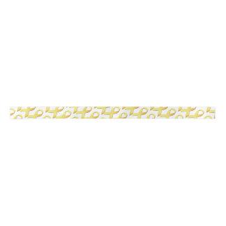 Yellow Suicide Prevention Ribbon Satin Ribbon