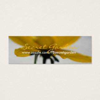 Yellow Summer Floral Photography Business card