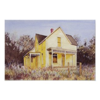 Yellow Summer Home- poster print