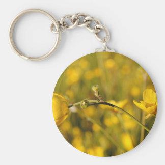Yellow summer meadow keychain