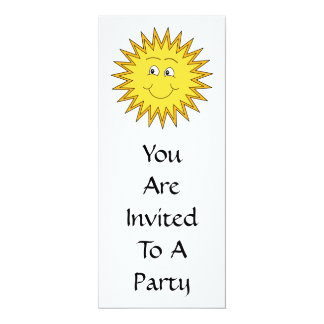 Yellow Summer Sun with a Happy Face. Card