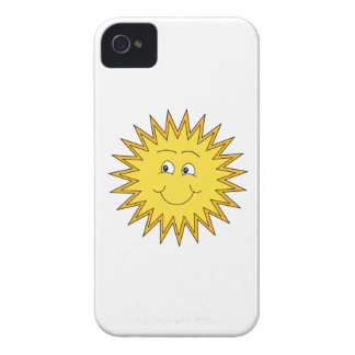 Yellow Summer Sun with a Happy Face. iPhone 4 Case-Mate Case