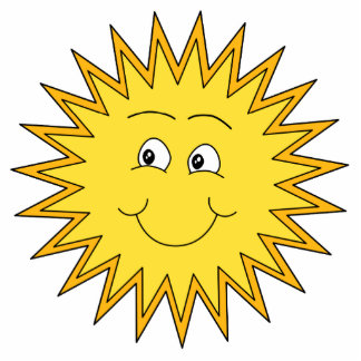 Yellow Summer Sun with a Happy Face. Statuette