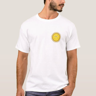Yellow Summer Sun with a Happy Face. T-Shirt