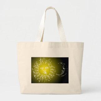 Yellow Sun and Moon Bag