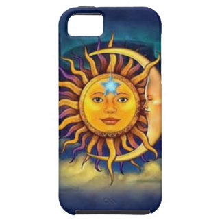 Yellow Sun and Moon iPhone SE/5/5s Case