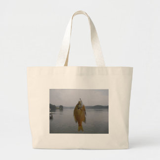 Yellow sun fish at Lake ArowwHead Canvas Bags