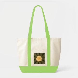 Yellow Sun Green Grass Kaleidoscope Beach Fashion Tote Bag