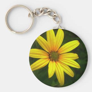 Yellow Sun Hat Flower Keychains
