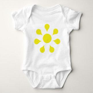 yellow sun icon baby bodysuit